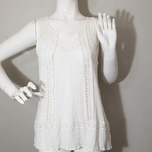 🎁*acemi* White crinkle tank top